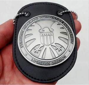 Agents of shield S.H.I.E.L.D. Metal SHIELD Badge & Badge Holder With Chain