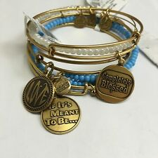 """ALEX AND ANI """"COMPLETELY BLESSED, WHITE BEADED, CANOPY WRAP, LOVE, IF ITS MEANT"""""""