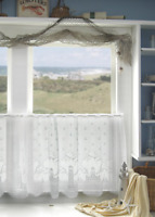 """Heritage Lace White LIGHTHOUSE Window Tier 30""""L"""