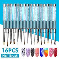 16Pcs Nail Art Design Pen Painting Dotting Polish Brush UV Gel Drawing Tools