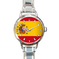 Women's Spain Flag Watch Italian Charm Watch Bracelet española Spanish