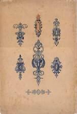 Acquerello 1909 ornata-lavori in metallo-FERRAMENTA-Accessori, chiave