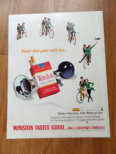 1964 Winston Cigarette Ad Bicycling