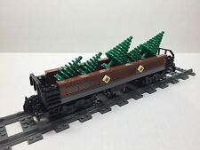 LEGO Custom Tree Freight Car for #10194 Emerald Night. Very nice all new parts