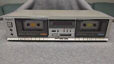 Technics Vintage Dual Double Cassette Deck Rs-B11W Vintage Tape Recorder Tested