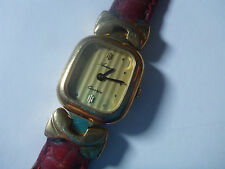 WATCH MONTRE AURORE ANCIEN VINTAGE FRANCE QUARTZ BRACELET GENUINE LEATHER