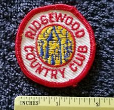 RIDGEWOOD founded 1890 Paramus, NEW JERSEY COUNTRY CLUB GOLF COURSE Patch