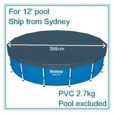 PVC POOL COVER FOR INTEX AQUA DRICLAD 12' 366cm STEEL FRAME POOL HYDRIUM POOL