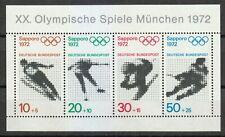 Germany 1971 MNH Mi Block 6 Sc B475a Olympic Games 1972 Sapporo, Japan **