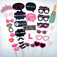30 x Full Set Hen Party Selfie Photo Props Booth Night Games Wedding Accessories