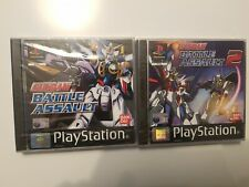 GUNDAM BATTLE ASSAULT 1 & 2 NEUF SOUS BLISTER PS1 PAL NEW