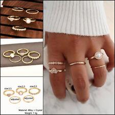 5pcs/Set Ring for Women Pearl Heart Above Knuckle Ring Midi Finger Tip Rings Set