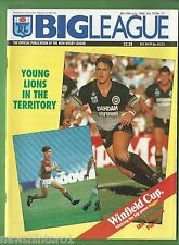 #UU. RUGBY BIG LEAGUE MAGAZINE 8/7 - 14/7 1992, IAN ROBERTS - MANLY  PINUP