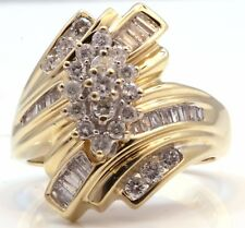 14K Yellow Gold Engagement Wedding Ring Large 1 Carat WIDE