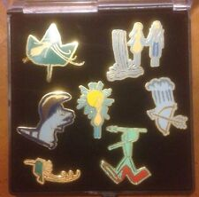 DISNEY WDW CAST MEMBER LE 400 POCAHONTAS 7 PIN SET RELEASED 1995 CAVE PAINTINGS