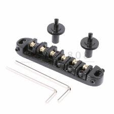 Roller Saddles Tune-O-Matic Style Bridge for LP Les Paul Guitar Black