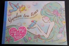 Q-lia Japan Garden Tea Time Kawaii Large Memo Pad Scented