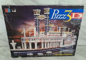 Puzz 3D Mississippi Steamboat 718 Pieces Complete 3D Jigsaw Puzzle