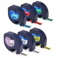 6PK Compatible DYMO LetraTag 16952 91331 91332 91333 91334 91335 12mm Label Tape
