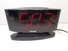SHARP DIGITAL CLOCK/ALARM W/ SNOOZE FUNCTION ELECTRIC WITH BACKUP BATTERY WORKS