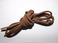UK TANNED & CUT BROWN LEATHER LACES 130CM SOFT & SUPPLE HIGH STRENGTH TAN