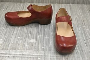 **Dansko Beatrice Mary Jane Comfort Clog, Women's Size 6.5-7/EU 37, Red NEW