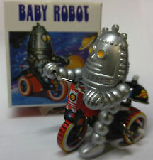 BABY ROBOT on Trike WindUp Tin Toy space MS013 Sci-fi cycle