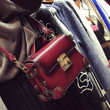 womens messenger bag leather crossbody lock bag handbag box shoulder small Bag