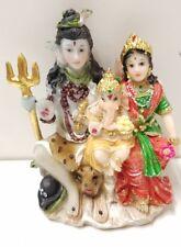 Mini Shiv family Murti - Shiv, Parvati And Ganesh (8cm Height x 5cm Width)