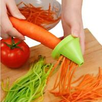 Kitchen Gadget Funnel Vegetable Carrot Radish Cutter Shred Slicer Spiral Device