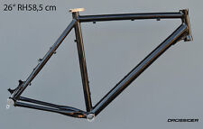 "Drössiger großer Mountainbike Rahmen 58,5cm Alu schwarz glanz 26"" Disc + V-Brake"