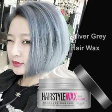 Gris Argenté Gel Pâte Crème Cire à Cheveux Boue Teinture Coloration Coiffure Wax