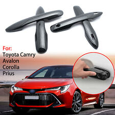 Carbon Fiber Style Door Handle Protector Trims For Toyota Camry 2018 2019 2020