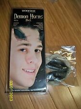 DEMON DEVIL BLACK HORNS LATEX PROSTHETIC COSTUME STAGE MAKEUP CSWO241