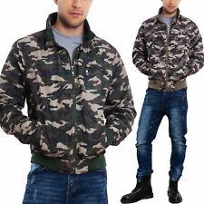 Giubbotto uomo giacca militare camouflage leggero antivento zip TOOCOOL CM-838