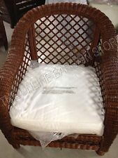 Frontgate Heyworth Oversized Wicker woven Sofa Chair Sedona w cushion choice