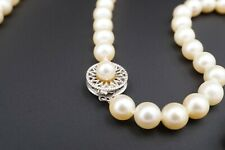 """Classic 14k White Gold Akoya Pearl Necklace 29"""" 7mm Opera Length NG758"""