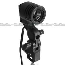 Photography Photo Studio Flash Light Lamp Bulb Single Holder E27 Socket Bracket