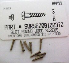 #0x3/8 Round Head Slotted Wood Screws Solid Brass (100)