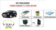 KIT FILTRI TAGLIANDO FORD FUSION 1.4 TDCI + OLIO ERG SUPERONE 5W30 SINTETICO