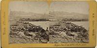 Algeria Algeri Vista Del Port Foto Stereo B.K.Parigi Vintage Albumina c1865
