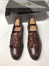 Allen Edmonds Auburn Brown Leather Tassel Loafers Mens 10 B with Shoe Trees