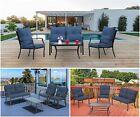 3/4pcs Outdoor Patio Furniture Bistro Set Sectional Sofa Garden Conversation Set
