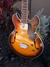 Ventura Bass Guitar EB2 Vintage 70s Open Book MIJ Japan Hollow Body Sunburst VGC