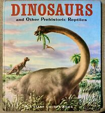 New ListingDinosaurs And Other Prehistoric Reptiles A Giant Golden Book 1960 Beautiful!