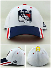 New York Rangers Adidas New Winter Classic White Blue Era Flx Fitted Hat Cap S/M