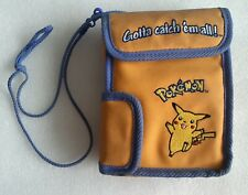 Vintage pokemon case PIKACHU yellow from the 90s DS GAMEBOY CASE