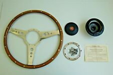 "New Moto-Lita Moto Lita 14"" Wood Steering Wheel and Adaptor  for MG TD TF"