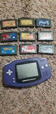 Nintendo Game Boy Advance Indigo Handheld System with 9 games