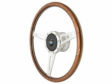1964 - 1966 Ford Mustang Shelby Style Steering Wheel Kit with Blue Oval Emblem